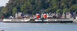 Waverley is one of the world's greatest historic ships – the last sea-going paddle steamer in the world. Seen here returning to Oban after her four Loch's and Corryvreckan cruise. (c) Stephen Lawson | Edinburgh Elite media