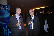 David Hopper and Leolu Price QC   'Dirty politics, Dirty times: My fight with Wapping and New Labour' by Michael Ashcroft. Book launch party in aid of Crimestoppers. Riverbank Plaza Hotel. London SE1.      October 10 2005. ONE TIME USE ONLY - DO NOT ARCHIVE © Copyright Photograph by Dafydd Jones 66 Stockwell Park Rd. London SW9 0DA Tel 020 7733 0108 www.dafjones.com