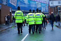 LIVERPOOL, ENGLAND - Sunday, March 3, 2019: Merseyside police pictured before the FA Premier League match between Everton FC and Liverpool FC, the 233rd Merseyside Derby, at Goodison Park. (Pic by Paul Greenwood/Propaganda)