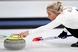 Great Britain's Anna Sloan during the Women's Round Robin Session 1 match against Olympic Athletes from Russia at the Gangneung Curling Centre during day five of the PyeongChang 2018 Winter Olympic Games in South Korea.
