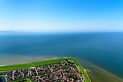Nederland, Friesland, Súdwest-Fryslân, 07-05-2018; <br /> Hindeloopen, een van de Friese Elf steden.<br /> Hindeloopen, one of the Frisian Eleven cities.<br /> luchtfoto (toeslag op standard tarieven);<br /> aerial photo (additional fee required);<br /> copyright foto/photo Siebe Swart