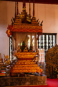 Interior view of Wat Wisunarat (Wat Visoun), a Buddhist temple in Luang Prabang, Laos.