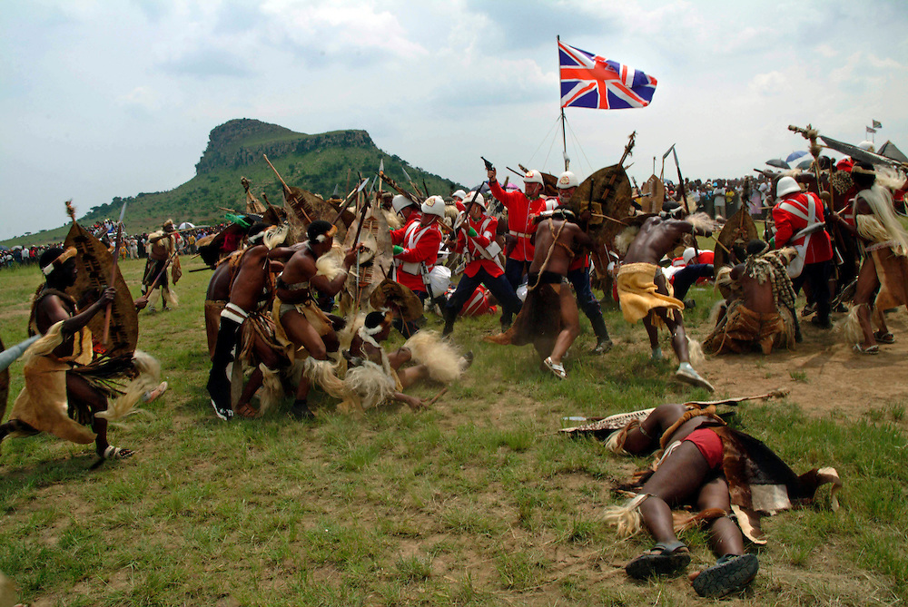 A smaller 'Horns of the Buffalo' encircle the red coats. .©Zute Lightfoot.DVD0018