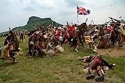 A smaller 'Horns of the Buffalo' encircle the red coats. .©Zute Lightfoot.DVD0018