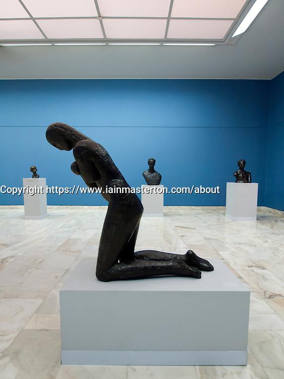 Sculptures by Constantin Brancusi at Museum of Art in Bucharest Romania