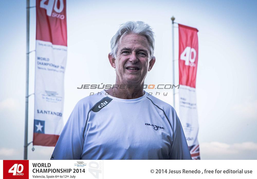 """Andy Soriano , skipper and owner Soto 40 """"Alegre"""" .SOTO 40 WORLD CHAMPIONSHIP 2014,Valencia, S"""