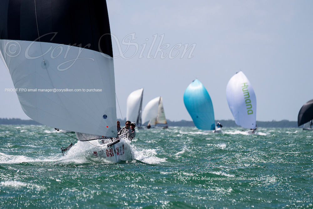 FU, Melges 20 Class, sailing in Bacardi Miami Sailing Week, day five.