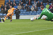 Port Vale Midfielder, Jerome Thomas (14) shoots during the EFL Sky Bet League 1 match between Bury and Port Vale at the JD Stadium, Bury, England on 3 September 2016. Photo by Mark Pollitt.