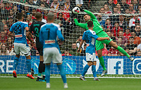 EDINBURGH, SCOTLAND - JULY 28: <br /> Great save by Liverpool's Belgian goalkeeper, Simon Mignolet,during the Pre-Season Friendly match between Liverpool FC and SSC Napoli at Murrayfield on July 28, 2019 in Edinburgh, Scotland. (Photo by MB Media)
