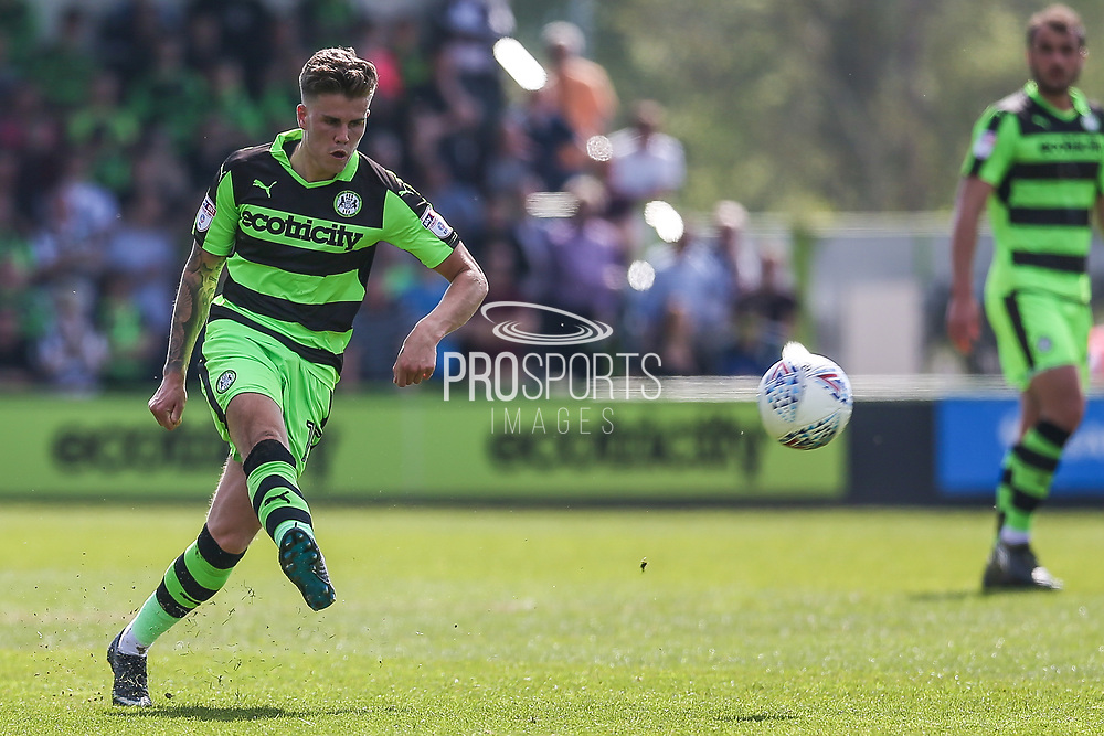 Forest Green Rovers Charlie Cooper(15) during the EFL Sky Bet League 2 match between Forest Green Rovers and Grimsby Town FC at the New Lawn, Forest Green, United Kingdom on 5 May 2018. Picture by Shane Healey.