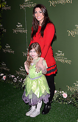 Luisa Zissman and Dixie attend Tinkerbell and the Legend of the Neverbeast Gala Screening at Vue West End, Leicester Square  London on Sunday 7th December 2014