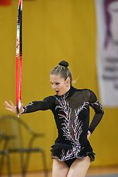 Anastasiia Shumkova of Russia at rhythmic gymnastics for 15th Slovenian Challenge Tournament 2013, on November 16, 2013, in Dvorana Sentvid, Ljubljana, Slovenia. (Photo by Matic Klansek Velej / Sportida.com)