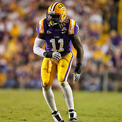 November 13, 2010; Baton Rouge, LA, USA; LSU Tigers linebacker Kelvin Sheppard (11) on the field during the first half against the Louisiana Monroe Warhawks at Tiger Stadium.  Mandatory Credit: Derick E. Hingle
