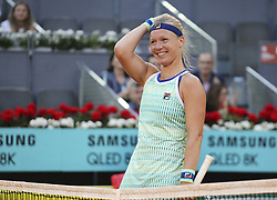 May 11, 2019 - Madrid, MADRID, SPAIN - Kiki Bertens (NED) during the Mutua Madrid Open 2019 (ATP Masters 1000 and WTA Premier) tenis tournament at Caja Magica in Madrid, Spain, on May 11, 2019. (Credit Image: © AFP7 via ZUMA Wire)