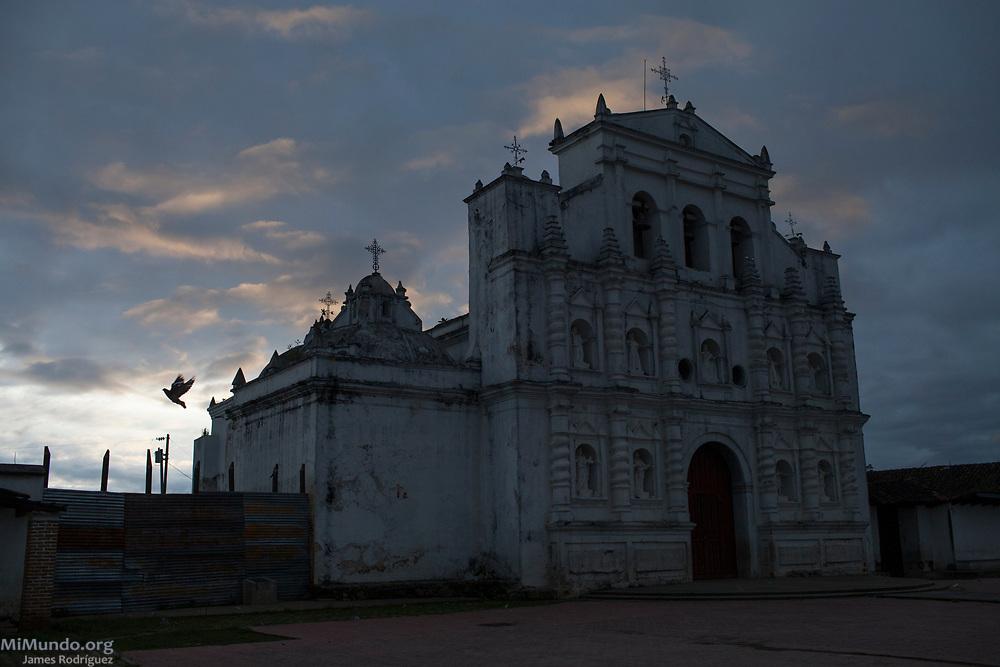Catholic churc at dusk. Santa Maria Chiquimula, Totonicapan, Guatemala. October 26, 2014.