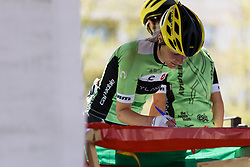 Doris Schweizer signs in - Emakumeen Saria - Durango-Durango 2016. A 113km road race starting and finishing in Durango, Spain on 12th April 2016.