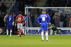 Gillingham's Danny Kedwell scores a penalty - Photo mandatory by-line: Dougie Allward/JMP - Mobile: 07966 386802 - 08/11/2014 - SPORT - Football - Gillingham - Priestfield Stadium - Gillingham v Bristol City - FA Cup - Round One