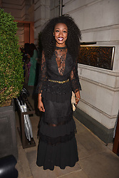 Beverley Knight at the Nelson Mandela Foundation Gala Dinner, Rosewood, London England. 24 April 2018.