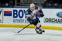 KELOWNA, CANADA - MARCH 13:  Michael Farren #16 of the Kelowna Rockets warms up against the Spokane Chiefs on March 13, 2019 at Prospera Place in Kelowna, British Columbia, Canada.  (Photo by Marissa Baecker/Shoot the Breeze)