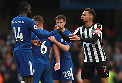 Newcastle United's Jacob Murphy (right) and Chelsea's Tiemoue Bakayoko shake hands after the final whistle