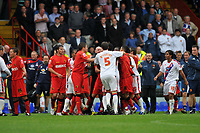 Photo: Tony Oudot/Richard Lane Photography.  Crystal Palace v Watford. Coca-Cola Championship. 09/08/2008. <br /> Watford manager Aidy Boothroyd looks on as Palace and Watford players get into a brawl