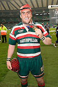Marcos Ayerza celebrates with his winners medal. The Guinness Premiership final 2010 between Leicester Tigers and Saracens at Twickenham Stadium, London, England. May 29th, 2010. .