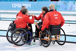 Aileen Neilson, Bob McPherson, Gregor Ewan, Jim Gault, Wheelchair Curling Semi Finals at the 2014 Sochi Winter Paralympic Games, Russia