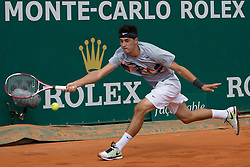 18.04.2012 Country Club, Monte Carlo, MON, ATP World Tour, Rolex Masters, 2. Runde, im Bild Bernard Tomic (AUS) in action during the second round match between Bernard Tomic (AUS) and Alexandr Dolgopolov (UKR) // at the Rolex Masters tennis tournament second Round of ATP World Tour at Country Club, Monte Carlo, Monaco on 2012/04/17. EXPA Pictures © 2012, PhotoCredit: EXPA/ Mitchell Gunn