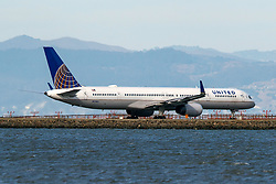 Boeing 757-33N (N57862) operated by United Airlines taxiing, San Francisco International Airport (KSFO), San Francisco, California, United States of America