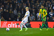 Ezgjan Alioski of Leeds United (10) passes the ball during the EFL Sky Bet Championship match between Leeds United and West Bromwich Albion at Elland Road, Leeds, England on 1 March 2019.