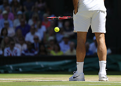 WIMBLEDON - GB -  6th July 2016: The Wimbledon Tennis Championship at the All England Lawn Tennis Club in S.E. London.<br /> <br /> Roger Federer vs Marin Cilic<br /> Photo by Ian Jones