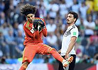 v.l. Torwart Guillermo Ochoa (Mexiko), Mats Hummels<br /> Moskau, 17.06.2018, FIFA Fussball WM 2018 in Russland, Vorrunde, Deutschland - Mexiko 0:1<br /> Tysland - Mexico<br /> Norway only