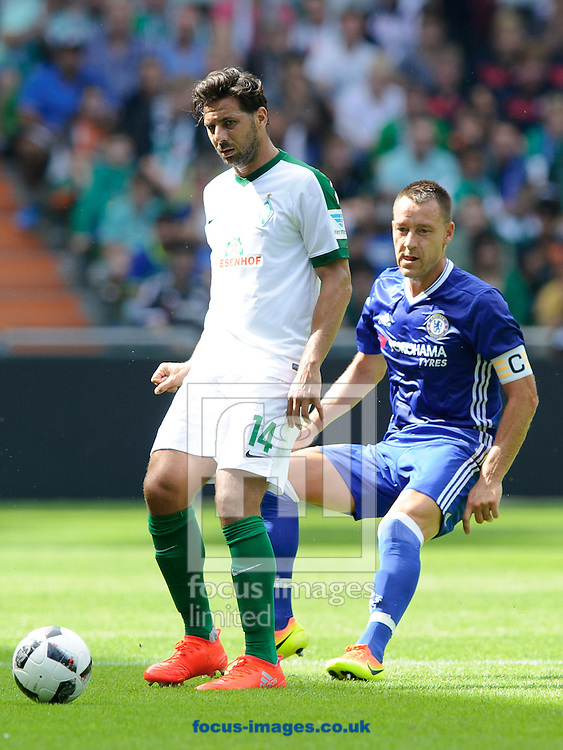 Claudio Pizarro of SV Werder Bremen and John<br /> Terry of Chelsea during the pre season friendly match at Weserstadion, Bremen, Germany.<br /> Picture by EXPA Pictures/Focus Images Ltd 07814482222<br /> 07/08/2016<br /> *** UK &amp; IRELAND ONLY ***<br /> EXPA-EIB-160807-0246.jpg
