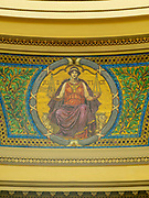 Mosaic of the Scales of Justice. Interior view of the Wisconsin State Capitol Building, Madison, Wisconsin, USA.