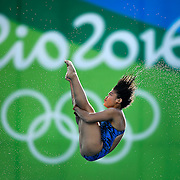 Nur Dhabitah Sabri of Malaysia qualified for the women's 10m platform diving final with her eighth place finish in the preliminary round on Thursday during the 2016 Summer Olympics Games in Rio de Janeiro, Brazil.