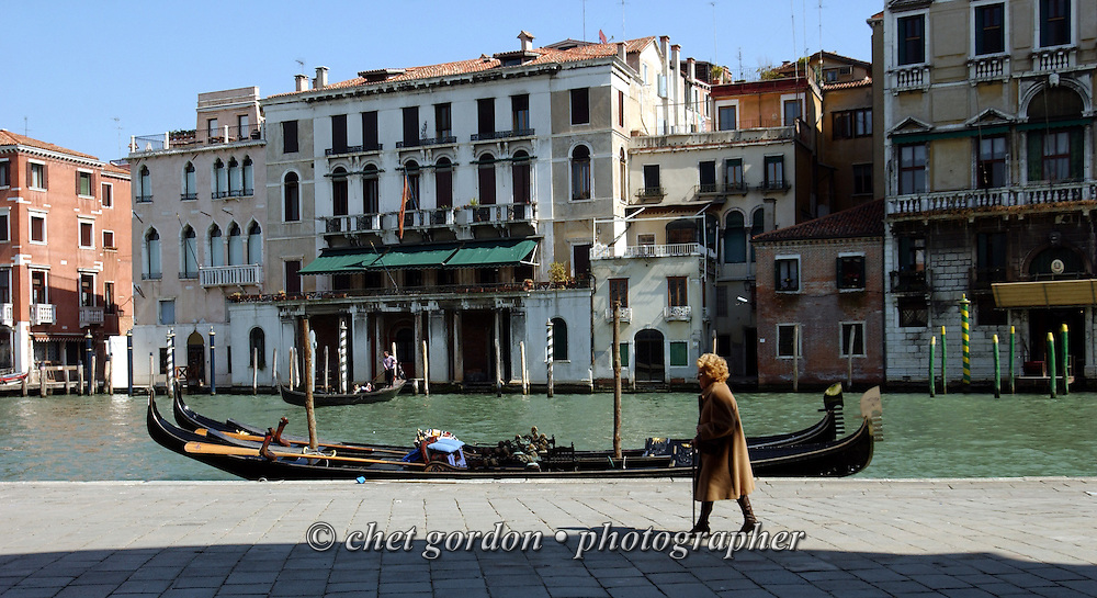 Strolling along the Grand Canal in Venice, Italy.