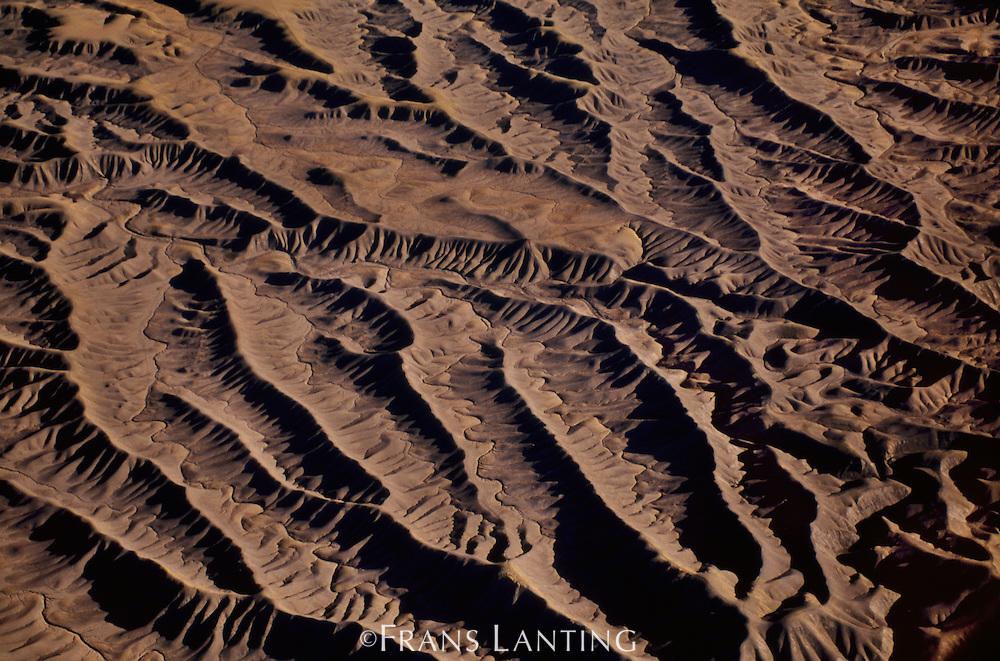 Water drainage patterns (aerial), San Rafael Swell, Utah