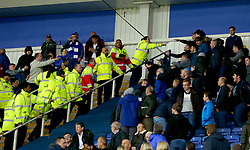 Everton and Leicester City fans begin to try and fight inside the King Power Stadium - Mandatory by-line: Robbie Stephenson/JMP - 29/10/2017 - FOOTBALL - King Power Stadium - Leicester, England - Leicester City v Everton - Premier League