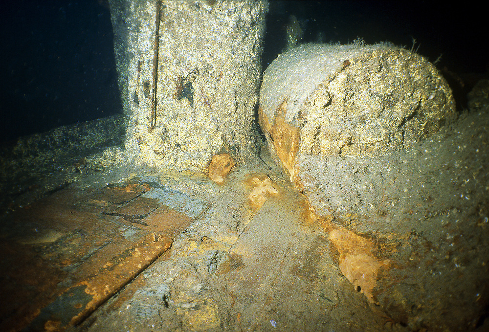 UJ173 lies on 65 metres of water. It was used to hunt submarines with during the second world war. On the deck of the wreck lies more than 70 sinking mines. Location: Norway