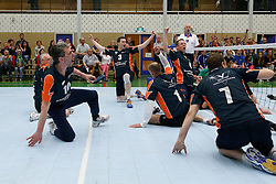 11-05-2013 VOLLEYBAL: EREDIVISIE ZITVOLLEYBAL HF BVC HOLYOKE - KINDERCENTRUM ALTERNO : BELFELD<br /> BVC Holyoke wint met 3-2 van Alterno en plaats zich voor de finale om het landskampioenschap<br /> &copy;2013-FotoHoogendoorn.nl / Pim Waslander