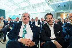 "01.07.2017, Design Center, Linz, AUT, ÖVP, 38. ordentlicher Bundesparteitag, mit Wahl von Bundesminister Kurz zum neuen Bundesparteiobmann, unter dem Motto ""Zeit für Neues - Zusammen neue Wege gehen"". im Bild v.l.n.r. Vizekanzler und Bundesminister für Justiz Wolfgang Brandstetter (ÖVP) und Minister für Wirtschaft und Wissenschaft Harald Mahrer (ÖVP) // f.l.t.r. Austrian Vice Chancellor and Minister of Justice Wolfgang Brandstetter and Minister of Science and Economy Harald Mahrer during political convention of the Austrian People' s Party with election of Sebastian Kurz as the new party leader at Design Centre in Linz, Austria on 2017/07/01. EXPA Pictures © 2017, PhotoCredit: EXPA/ Michael Gruber"