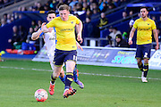 Oxford United Midfielder John Lundstram during the The FA Cup Fourth Round match between Oxford United and Blackburn Rovers at the Kassam Stadium, Oxford, England on 30 January 2016. Photo by Dennis Goodwin.