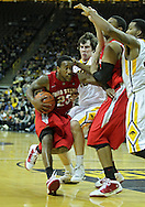 January 04 2010: Ohio State Buckeyes guard/forward David Lighty (23) drives to the basket during the second half of an NCAA college basketball game at Carver-Hawkeye Arena in Iowa City, Iowa on January 04, 2010. Ohio State defeated Iowa 73-68.