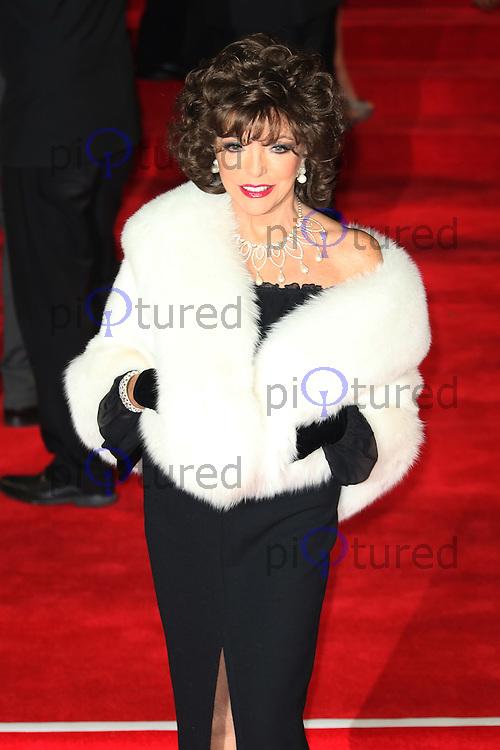 Joan Collins, Bond: Spectre - World Premiere & Royal Film Performance, Royal Albert Hall, London UK, 26 October 2015, Photo by Richard Goldschmidt