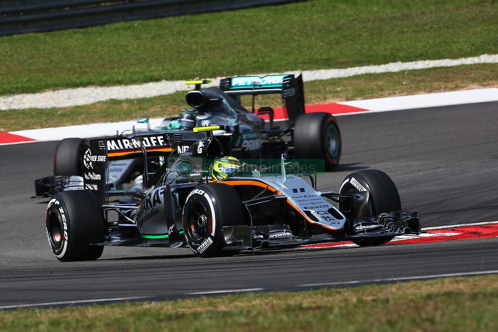 Sergio Perez (MEX) Sahara Force India F1 VJM09.<br /> 02.10.2016. Formula 1 World Championship, Rd 16, Malaysian Grand Prix, Sepang, Malaysia, Sunday.<br /> Copyright: Photo4 / XPB Images / action press