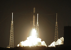 May 4, 2019 - Cape Canaveral, Florida, United States - A SpaceX Falcon 9 rocket successfully launches the CRS-17 cargo mission from Cape Canaveral Air Force Station on May 4, 2019 in Cape Canaveral, Florida. This is the 17th resupply mission by SpaceX for NASA to the International Space Station. (Credit Image: © Paul Hennessy/NurPhoto via ZUMA Press)