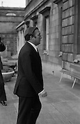 Charles Haughey, TD at Dail.<br /> 1971.<br /> 09.11.1971.<br /> 11.09.1971.<br /> 9th November 1971.<br /> Images show Charles Haughey in the grounds of Leinster House in Dublin.
