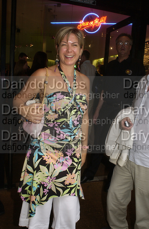 Penny Smith. Gala Charity premiere of 'On A Clear Day' in aid of the NSPCC. The Screen on the Hill, Haverstock Hill, London. 31 August 2005. ONE TIME USE ONLY - DO NOT ARCHIVE  © Copyright Photograph by Dafydd Jones 66 Stockwell Park Rd. London SW9 0DA Tel 020 7733 0108 www.dafjones.com