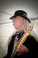 Kenny Githens of Scoville Blues during a performance at Heritage Vineyards' Spring Wine & Cheese Event.