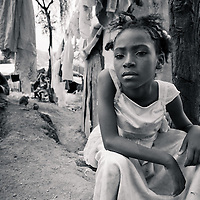A girl in a camp in Port au Prince, Haiti